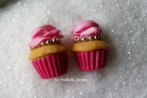 Le Cupcake Rose chaine